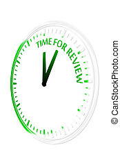Time for review clock vector illustration