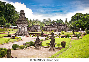 Candi Penataran temple in Blitar, east Java. - Candi...
