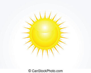 abstract glossy sun icon vector
