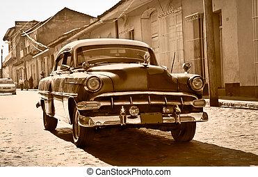 Classic Chevrolet in Trinidad, Cuba - TRINIDAD-JAN...