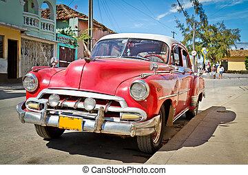 clásico, Chevrolet, Trinidad, Cuba