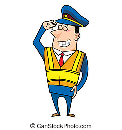 male cartoon police officer