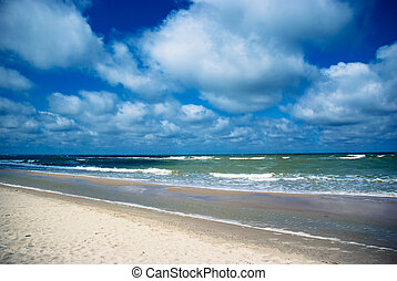 The Curonian Spit stretches from the Sambian Peninsula on...