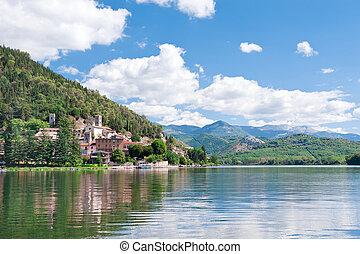 Italy. Piediluco Lake - Piediluco lake, Terni, Umbria, Italy