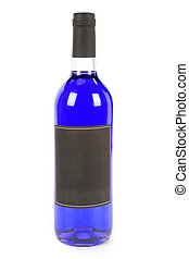 soft drink bottle with white background