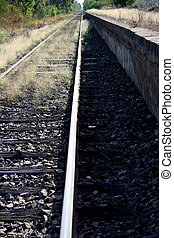 Vanishing Point - Railway tracks disappearing in the...