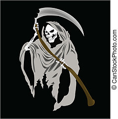 Grim Reaper Vector - Vector graphics are graphics that can...
