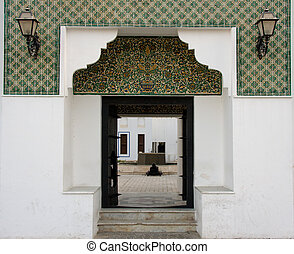 Entrance to Fort in Abu Dhabi - Tiled entrance to fort in...