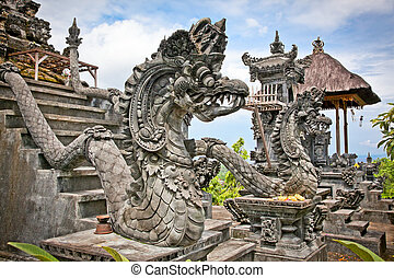 Dragon monster secure the entrance of Pura Padmasana Puja...