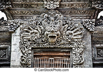 Stone sculpture in Nusa Dua, Bali - Stone sculpture on...
