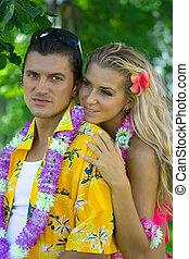 Hawaii love - Two young men honeymoon on Hawaii Islands