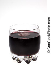 grape juice - glass of grape juice isolated on white...