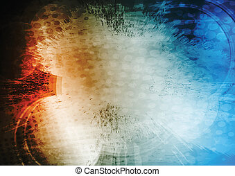 Red and blue grunge design - Grunge abstract background....