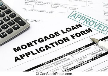 Mortgage loan application form