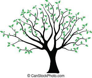 tree - illustration of a tree with green leaves