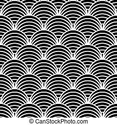 Seamless fish scale pattern - Seamless geometric pattern in...