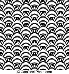 Seamless 'fish scale' pattern. - Seamless geometric pattern...