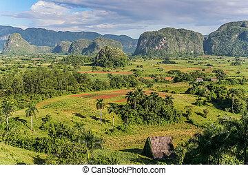 Valle de Vinales - View of Valle de Vinales in the west of...