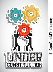 under construction - Illustration of under construction,...