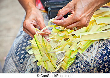 Bali Traditional Culture - Decoration for balinese offering...