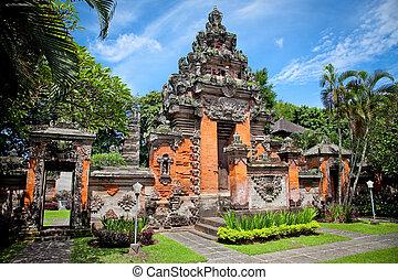 Entrance gate of Negeri Propinsi Museum in Denpasar, Bali,...