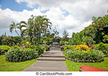 Beautiful garden in center of Denpasar , Bali , Indonesia