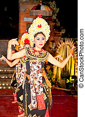 Barong and Keris dance performed in Bali, Indonesia - BALI -...