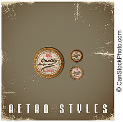 Vintage Labels template set. Retro logo design