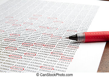 The report doesnt look good - Red pen sitting on a piece of...