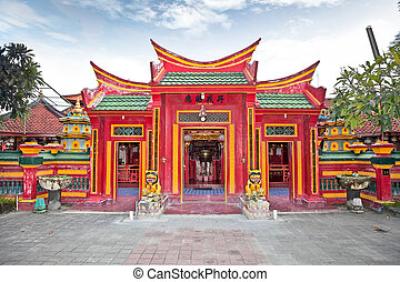 Caow Eng Bio chinese Buddhiist Temple in Tanjung Benoa near...