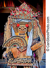 Barong dance mask of lion, Ubud, Bali - Barong dance mask of...