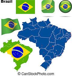 Brazil vector set.