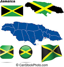 Jamaica vector set.