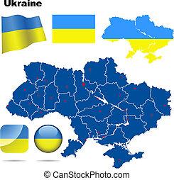 Ukraine vector set.