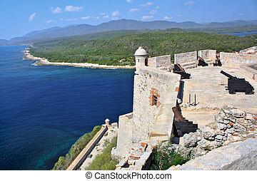 castillo, San, pedro, Roca, Morro, Cuba