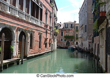 Venice romantic travel - lovely cannal in venezia city...