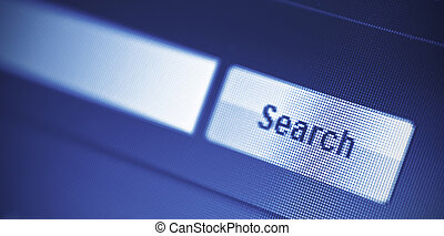 search engine - internet searching engine on monitor screen