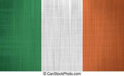 Irish Flag with a fabric texture