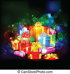 colorful gift box - illustration of colorful gift box on...
