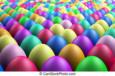 Endless Easter Eggs - Infinite Rows of 3D Rendered Easter...