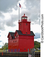 Lighthouse in Michigan - Big Red lighthouse in Holland...