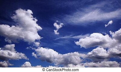 Clouds on blue sky.