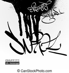 Graffiti style background Urban grunge vector art