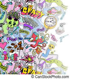 Graffiti background template design