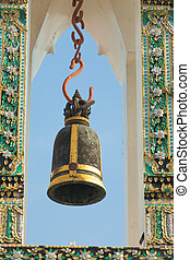 bell - Bell at Wat Pho temple in Bangkok