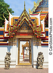 Door passageway in Wat Pho temple in Bangkok
