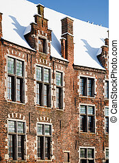 Flemish house - Detail of house in Belgium with traditional...