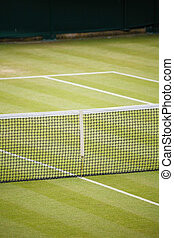 Tennis club - Tennis court detail with space for text