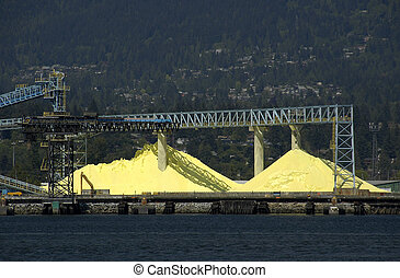Sulphur in the piles