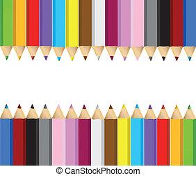 color pencils banner frame